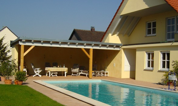 Garten mit Pool - Gerolzhofen